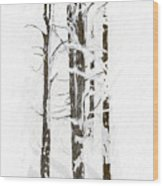 The Snow Just Won't Stop Wood Print