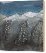 The Snow Wood Print
