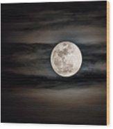 The Snow Moon Is Arising  Wood Print