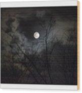 The Snow Moon Wood Print