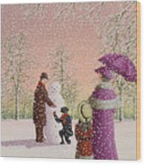 The Snowman Wood Print