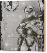 The Snowtrooper Wood Print