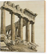 The South-east Corner Of The Parthenon. Athens Wood Print