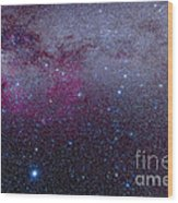 The Southern Milky Way Wood Print