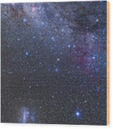 The Southern Sky And Milky Way Wood Print