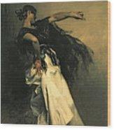 The Spanish Dancer Wood Print