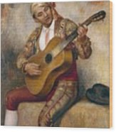 The Spanish Guitarist Wood Print