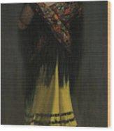 The Spanish Shawl - Portrait Of Jeanne Frankenberg Wood Print