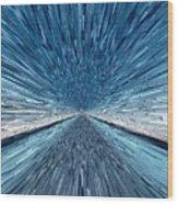 The Speed Of Light Wood Print