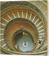 The Spiral Staircase Wood Print