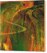 The Spirit Glows Wood Print