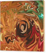 The Spirit Of Christmas - Abstract Art Wood Print