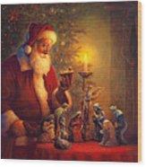 The Spirit Of Christmas Wood Print by Greg Olsen
