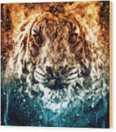 The Spirit Tiger Wood Print