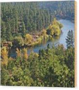 The Spokane River  Wood Print