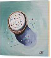 The Sprinkled Cupcake Wood Print