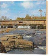 The Square Dance Venue Watson Mill Covered Bridge Wood Print
