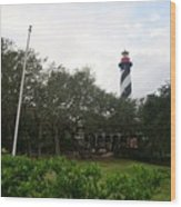 The St. Augustine Light Station Wood Print