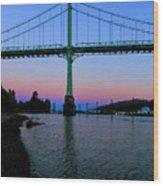 The St Johns Bridge Wood Print