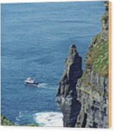 The Stack And The Jack B Cliffs Of Moher Ireland Wood Print