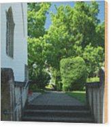 the stairs behind the Gottstatt Monastery church Wood Print