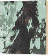 The Stallion At Aztec Wood Print