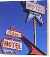 The Star Motel Wood Print