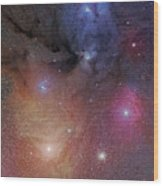 The Starforming Region Of Rho Ophiuchus Wood Print