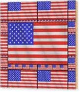 The Stars And Stripes 2 Wood Print