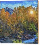 The Stars Of Autumn Wood Print
