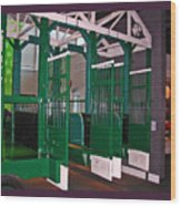 The Starting Gate Display In The Kentucky Derby Museum Wood Print