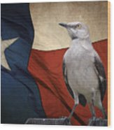 The State Bird Of Texas Wood Print