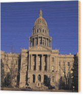 The State Capitol Building Wood Print
