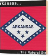 The State Flag Of Arkansas Wood Print