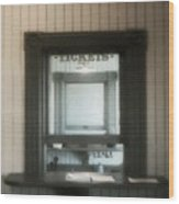 The Stationmaster's Window Wood Print