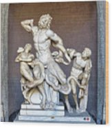 The Statue Of Laocoon And His Sons At The Vatican Museum Wood Print
