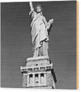 The Statue Of Liberty  Photo Wood Print