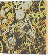 The Steampunk Heart Design Wood Print