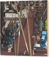 The Steel Factory Wood Print