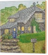 The Stone Cottage  Wood Print