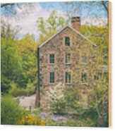 The Stone Mill In Spring Wood Print