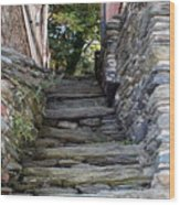The Stone Stairs Wood Print