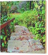 The Stone Steps Wood Print