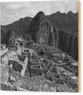 The Stonework Of Machu Picchu Wood Print