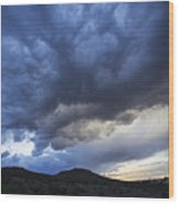 The Storm Above Wood Print