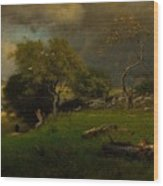 The Storm, George Inness Wood Print
