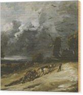 The Storm Wood Print