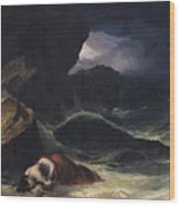 The Storm Or The Shipwreck Wood Print