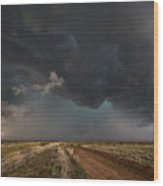 The Storm - Massive Thunderstorm Over Texas Panhandle Wood Print