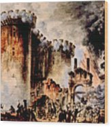 The Storming Of The Bastille, Paris Wood Print